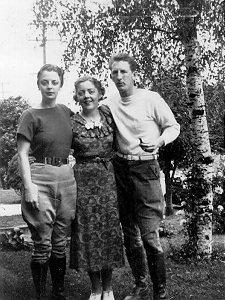 Elva, Muriel, and David, 1937