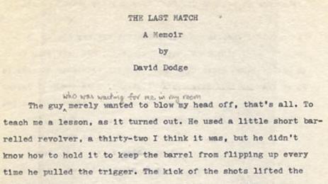 The Last Manuscript, ms. p.1